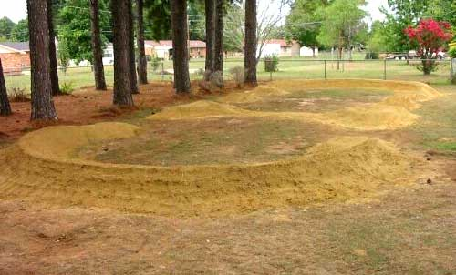Building Backyard Pump Track :  pump track It?s based on a design in Welcome to Pump Track Nation