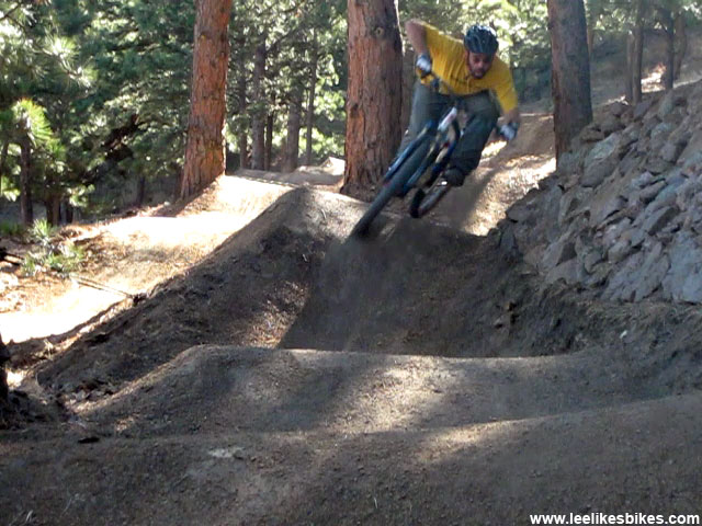 Lee McCormack on his backyard pump track