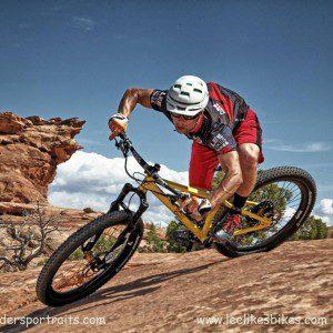 Kevin rails a corner in Moab, UT.