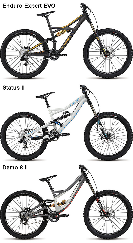 Specialized Enduro EVO vs Status vs Demo 8? – Lee Likes Bikes